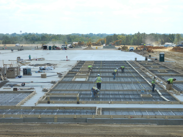 Eldridge Concrete Construction workers building for Britax project in fort mill south carolina