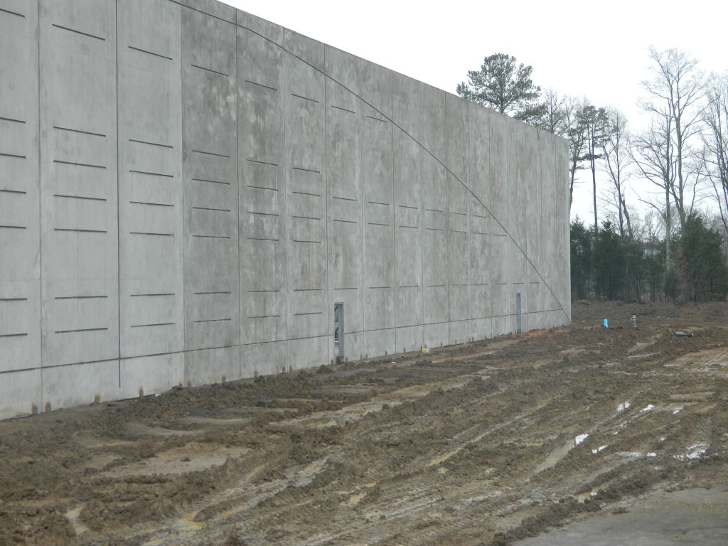 a beautifully constructed concrete tilt up wall completed by Eldridge Concrete Construction