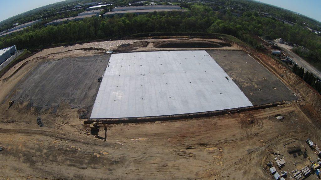 Drone view of the Ridge Creek construction project by Eldridge Concrete