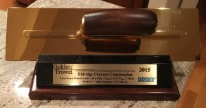 Eldridge-Concrete-Golden-Trowel-Trophy-Award